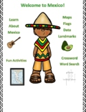 Mexico Geography, Flag, Maps, Assessment - Map Skills and Data Analysis