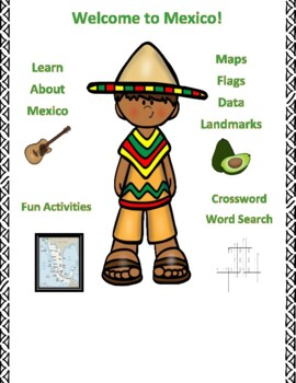 Geography, Flag, Maps, Assessment on Mexico - Map Skills a