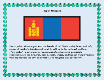 Mongolia Geography, Flag, Maps, Assessment - Map Skills and Data Analysis