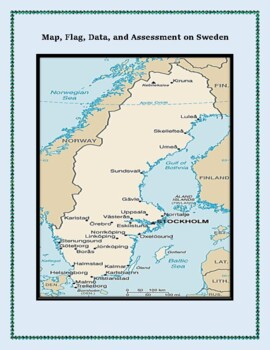 Geography, Maps, Flag, and Assessment on Sweden - Map Skil