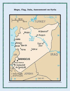 Geography, Maps, Flag, and Assessment on Syria - Map Skill