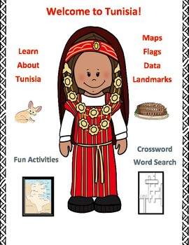 Tunisia Geography Maps, Flag, Data Assessment Map Skills and Data Analysis