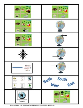 Maps Flashcards in English and Spanish **FREEBIE**