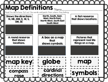 Maps & Globes Map Skills NO PREP Unit