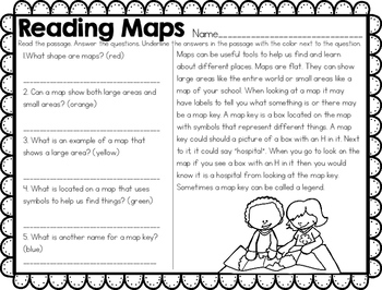 Maps & Globes Map Skills NO PREP Unit