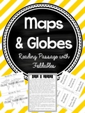 Maps & Globes Reading Passage with Foldables