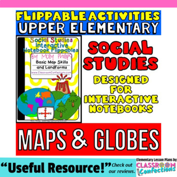 Maps and Globes: Social Studies: Interactive Notebook