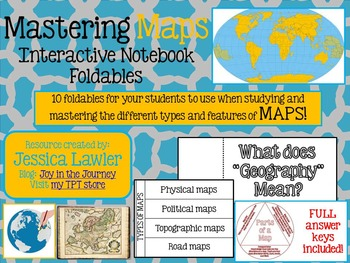 Maps Interactive Notebook Foldables