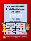 Main Idea Summaries and Maps with Time for Kids