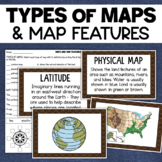 Maps and Map Features Geography Posters & Assessment