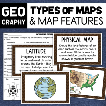 Maps and Map Skills Geography Posters & Assessment