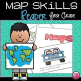 Maps| Map Skills| First Grade Reader with Posters