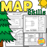 Map Skills - Grid, Scale, Map Keys and Map Flip Book