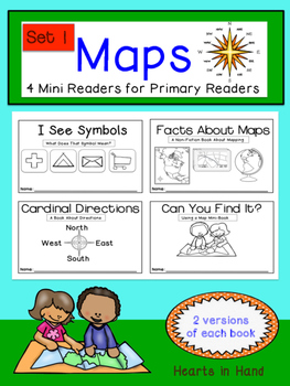 Maps Mini-Readers For Primary Readers Set One