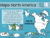 Maps: North America (clipart)