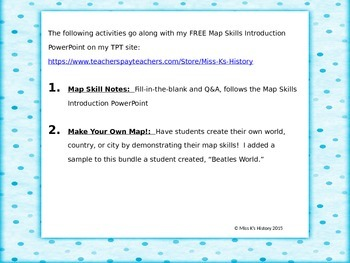 Maps Skills Introduction Notes and Map Activity