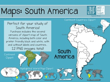 Maps: South America (clipart)