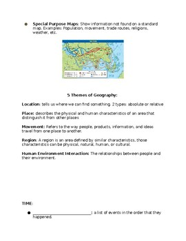 Maps, Timelines, and Archaeology: Guided Notes