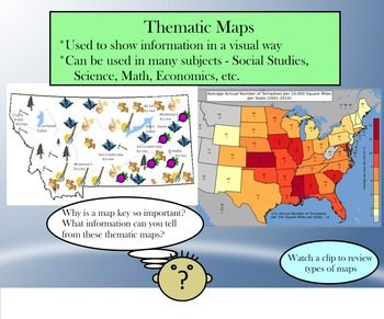 Maps Unit - SMARTboard, Notes, Quiz & Project