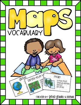 Maps Unit Vocabulary Cards