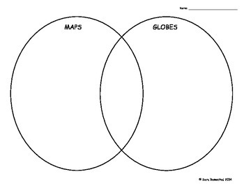 maps vs globes venn diagram by miss rosenthal tpt Venn Diagram Fish