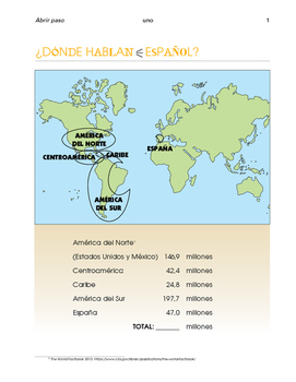 Spanish in Europe and the Americas - Content based maps - SP Beginners 1