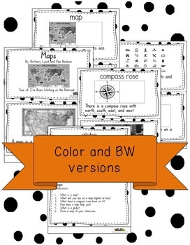 Maps  Interactive Book and Song with Comprehension Questions