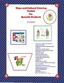 Maps and Cultural Coloring Pictures for Spanish Classes