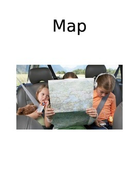 Maps and Globe Vocabulary Cards with Pictures