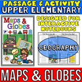 Maps and Globes: Reading Passage and Activity: Great for Interactive Notebooks