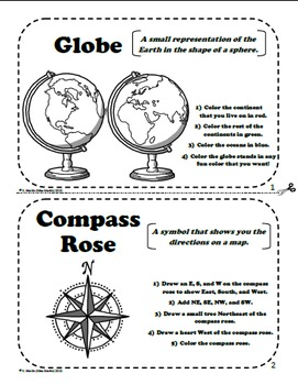 maps and globes a printable book for introducing or reviewing map skills. Black Bedroom Furniture Sets. Home Design Ideas