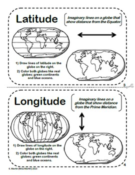 and Globes  A Printable Book for Introducing or Reviewing Map Skills