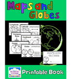 Maps and Globes - A Printable Book for Introducing or Reviewing Map Skills