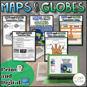 Maps and Globes {Digital AND Paper}