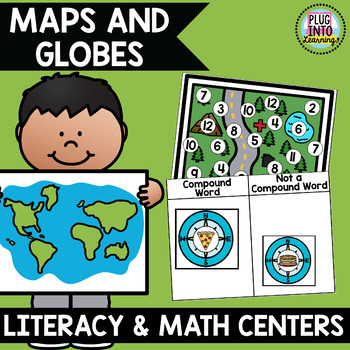 Maps and Globes Math and Literacy Centers