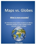 Globe and map distortion using oranges!