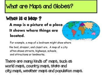 What Are Maps Maps and Globes Power Point in pdf by Kennedy's Korner | TpT What Are Maps