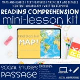 Maps and Globes Reading Comprehension Mini Lesson for Dist