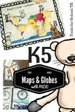 Maps, Kindergarten, Globes, Social Studies, Map coloring page, world map