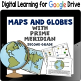 Maps and Globes with Prime Meridian, Google Classroom, Dis