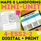 Maps and Landforms |  4-ess2-2 | 4th Grade | Earth Science Distance Learning