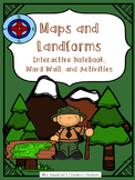 Maps and Landforms Interactive Notebook and Activities