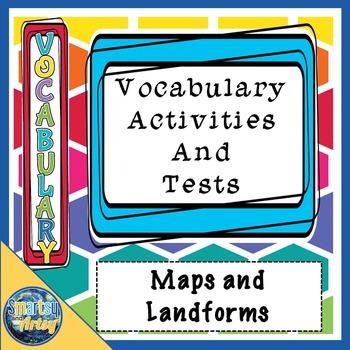 Maps and Landforms Vocabulary
