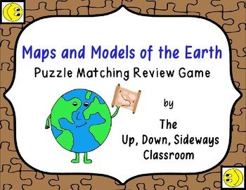 Maps and Models of the Earth Puzzle Matching Vocabulary Re