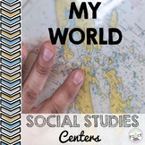 Maps and globes, landforms, landmarks, urban and rural Soc