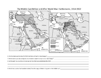 Maps before and after WWI