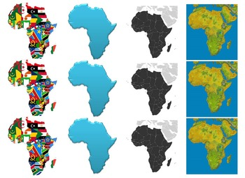 Maps of Africa: Clip Art Africa Maps