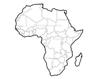 Maps of Africa: Clip Art Map Set