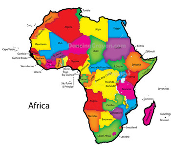 Maps of Africa: Clip Art Map Set by Maps of the World | TpT