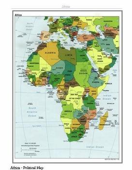 Maps of Africa and African Country Map Collection
